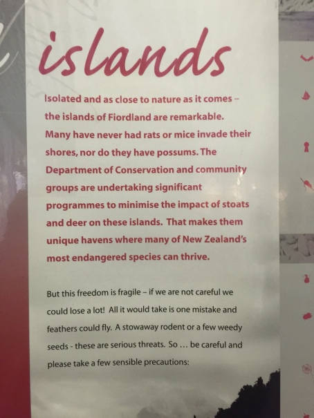 fiordland sign