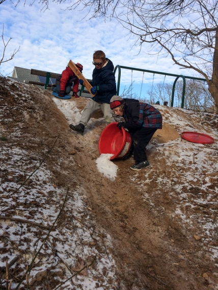 snow-mud-slide